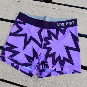 NIKE Pro Shorts - Compression - Small - purple